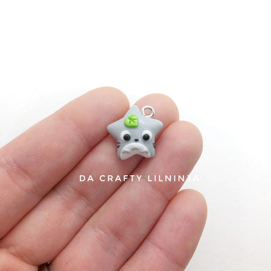 Kawaii Grey Mouse Lilninja Star Polymer Clay Charm