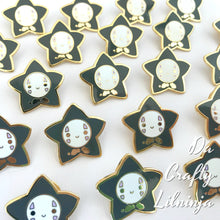 White Mask Spirit Lilninja Star Enamel Pin