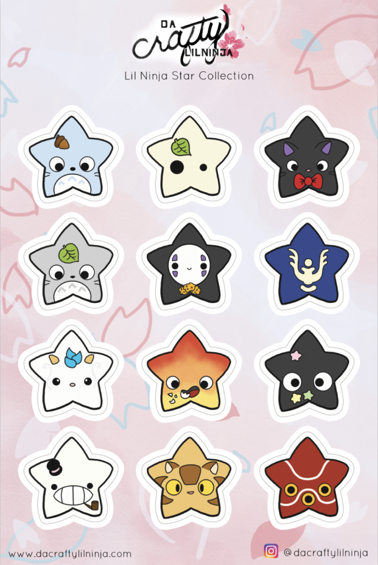 Kawaii Stars! Lilninja Star Sticker Collection