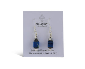 Blue jasper earrings