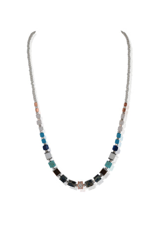 Cubic Zirconia agate necklace