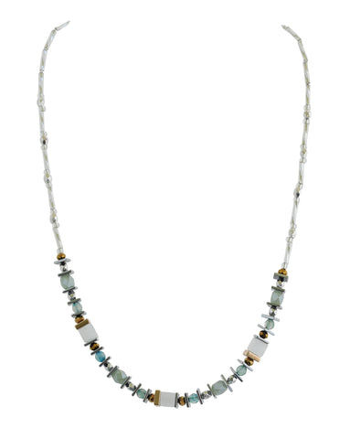 Multi-colour semi precious necklace - Mint