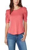 GATHERED SHORT SLEEVE TEE - Poppy Boutique MB