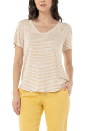SHORT SLEEVE V-NECK TEE - Poppy Boutique MB