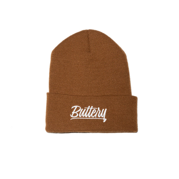 Signature Buttery Brown Big Fold Beanie