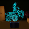 3D Optical Illusion Quad LED Lamp - 7 Colors Changeable