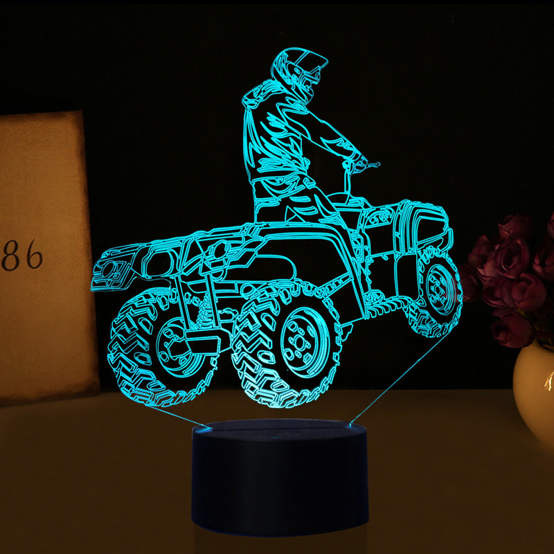 3d Optical Illusion Quad Led Lamp 7 Colors Changeable The Dirt Rider