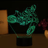 3D Optical Illusion Motocross Splash LED Lamp - 7 Colors Changeable