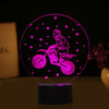 3D Optical Illusion Motocross Santa LED Lamp - 7 Colors Changeable