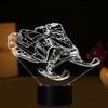 3D Optical Illusion Snowmobile LED Lamp - 7 Colors Changeable