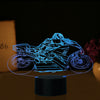 3D Optical Illusion Superbike Turn LED Lamp - 7 Colors Changeable