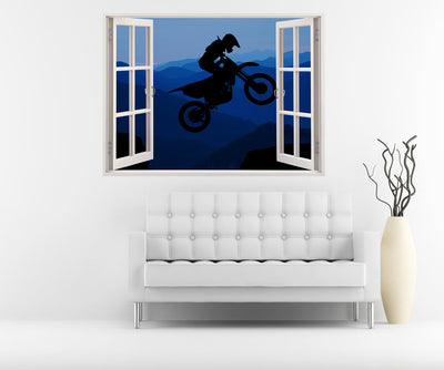 3D Midnight Rider Wall Decal