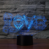 3D Optical Illusion Motocross Love LED Lamp - 7 Colors Changeable
