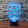 3D Optical Illusion Motocross Helmet LED Lamp - 7 Colors Changeable