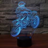3D Optical Illusion Motocross Vol.3  LED Lamp - 7 Colors Changeable