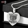 Father & Son Riding Partners For Life Necklace