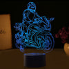3D Optical Illusion Superbike LED Lamp - 7 Colors Changeable