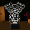 3D Optical Illusion Harley-Davidson Engine LED Lamp - 7 Colors Changeable