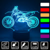 3D Optical Illusion Motocross (2 Strokes) LED Lamp - 7 Colors Changeable (With Remote)