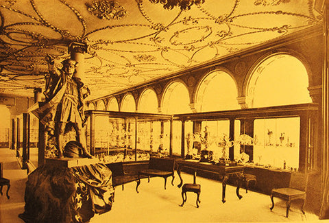 Gorham's display at the World's Columbian Exposition. Gorham Company Archives, John Hay Library, Brown Universi