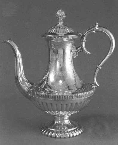 Fig. 3. Coffeepot, showing the early use of classical forms and Adamesque ornamentation.