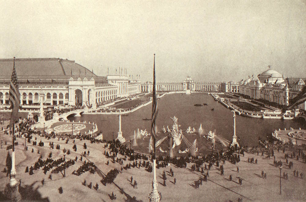 Grand Court of Honor at the World's Columbian Exposition, 1893, Published by Jones Brothers 1893