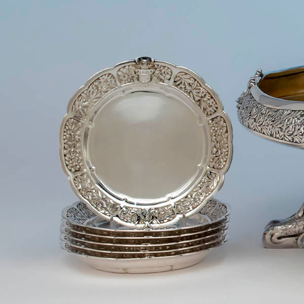 Tiffany & Co., Silver Ice Cream Plates, c. 1878, part of the Mackay Service