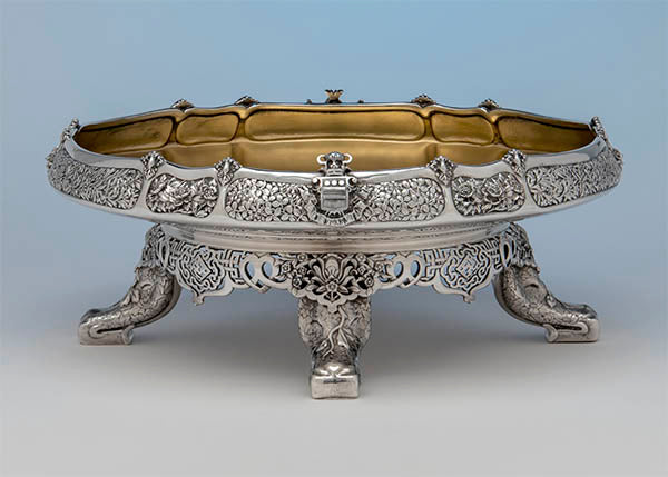 "Tiffany & Co., Silver Ice Cream Dish, c. 1878, Part of the ""Mackay Service"""