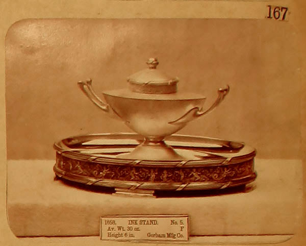 Archive photo of the Gorham #5 Inkstand