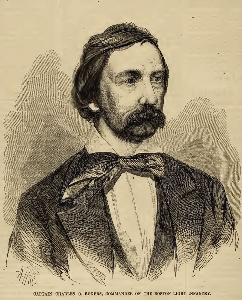 Charles O Rogers from Ballou's Pictorial, January 2, 1858, p. 172