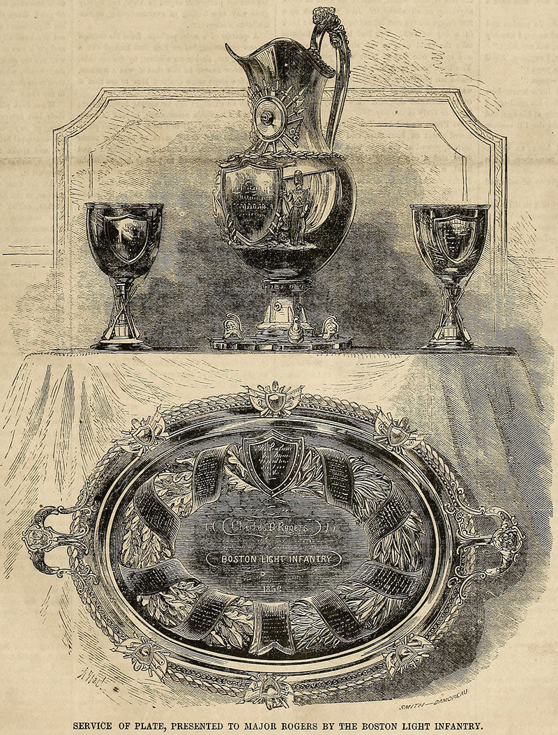 Rogers Presentation Service from Ballou's Pictorial July 30, 1859