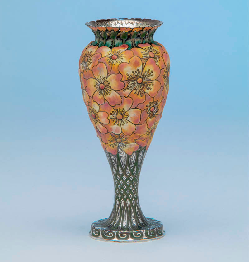 Moss-Rose Vase made by Tiffany & Co. for the Columbian Exposition, 1893