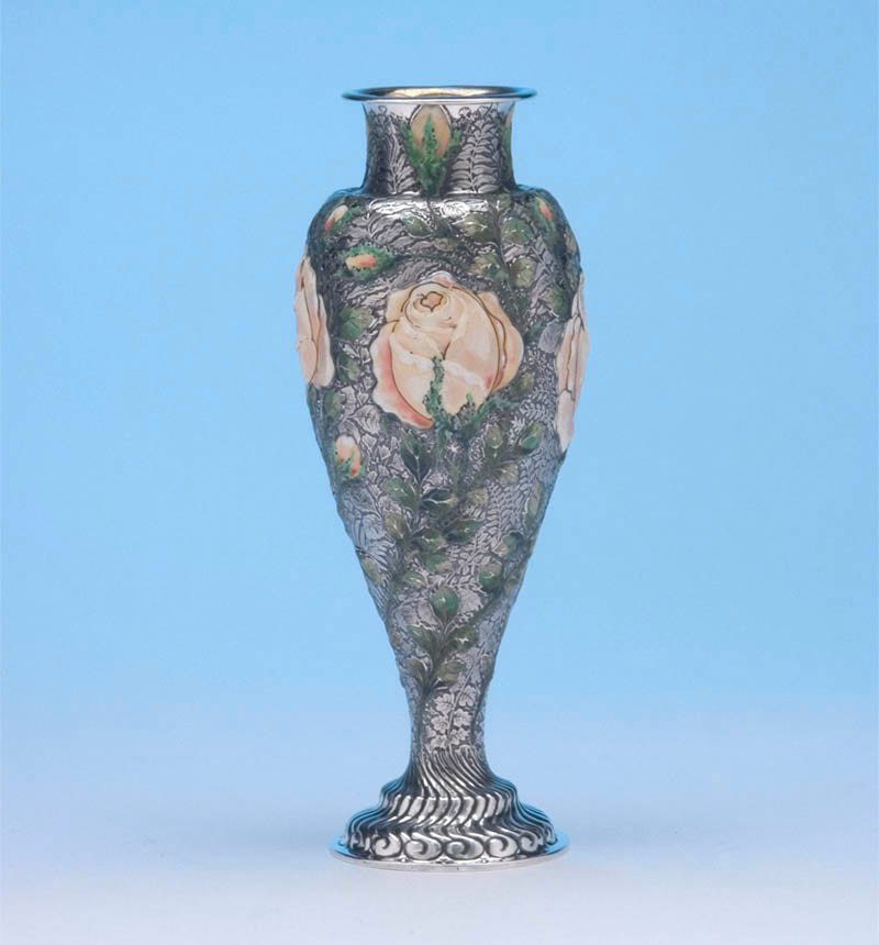 Wild Rose Vase made by Tiffany for the Columbian Exposition, 1893