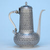 Tiffany & Co Antique Sterling Silver Aesthetic Movement Coffee Pot, New York - c. 1888