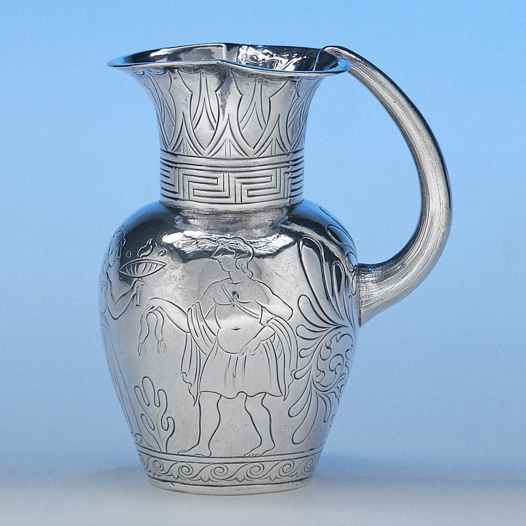 Irish Silver Classical/ Egyptian Cream Jug, James Fray, Dublin, c. 1838/39