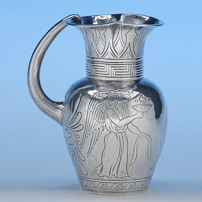 Reverse of Irish Silver Classical/ Egyptian Cream Jug, James Fray, Dublin, c. 1838/39