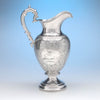 American Silver Presentation Ewer by James Bogert, Newburgh, NY, Retailed by Ball, Thompkins & Black, NYC, 1849/50
