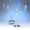 Pair of Antique English Sterling Candelabra by John Parsons & Co, Sheffield, 1792/93