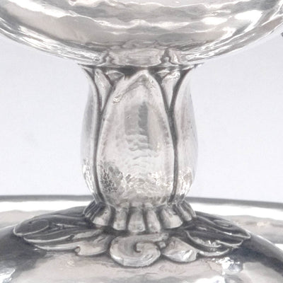Foot detail Peer Smed Sterling Silver Sauce Boat with Ladle, c. 1934