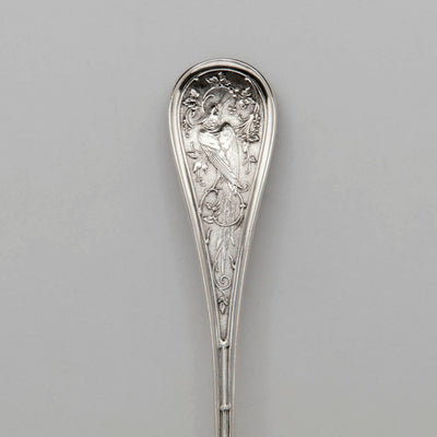 Handle to John Wendt Antique Sterling Silver Pie Server, NYC, c. 1870s
