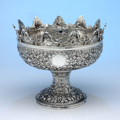 S. Kirk & Son 11oz Antique Sterling Silver Monteith, Baltimore, 1868-90