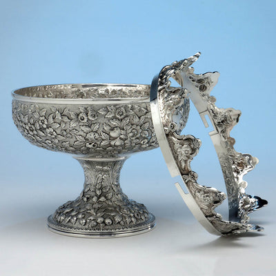 Rim off! S. Kirk & Son 11oz Antique Sterling Silver Monteith, Baltimore, 1868-90