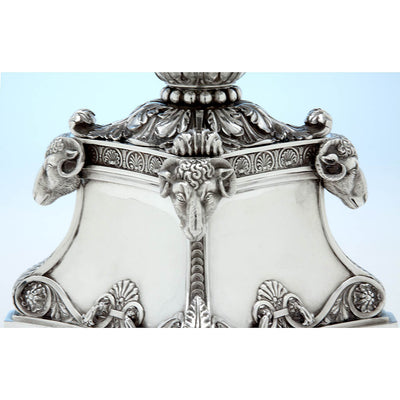Base Detail Rebecca Emes & Edward Barnard, Exceptional English Antique Sterling Silver Epergne, London - 1819/20