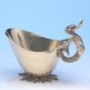 Leslie Durbin, English Gilt Sterling Silver Figural Gravy Boat, London, 1969/70