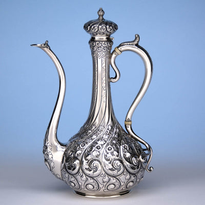 Durgin Antique After-Dinner Sterling Silver Coffee Pot, Concord, NH, c. 1900