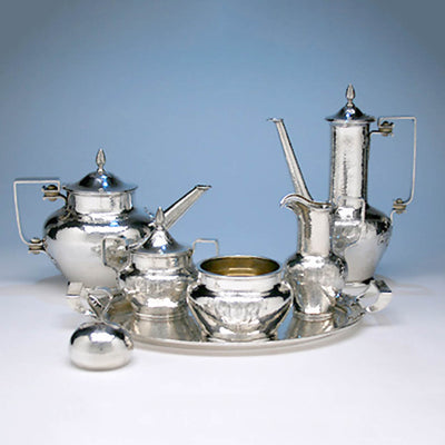 Shreve & Co Sterling Silver 7-piece Coffee and Tea Service, San Francisco - c. 1905