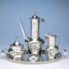 After dinner coffee Shreve & Co Sterling Silver 7-piece Coffee and Tea Service, San Francisco - c. 1905