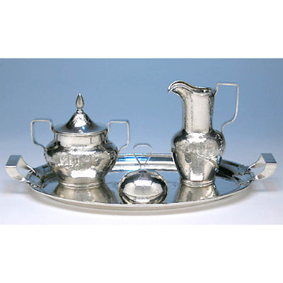 Another combination of Shreve & Co Sterling Silver 7-piece Coffee and Tea Service, San Francisco - c. 1905