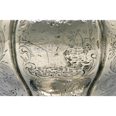 Engraving on Obadiah Rich Coin Silver Harvard University Presentation Ewer, 1850