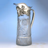 Tiffany & Co. Massive Antique Sterling Silver and Cut Glass Pitcher, 1902-1907